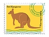Vector clipart: stamp with kangaroo