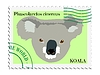 Vector clipart: stamp with koala