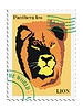 Vector clipart: stamp with lion