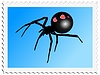 Vector clipart: stamp with black widow
