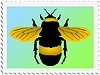 Vector clipart: stamp with bumblebee