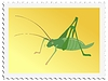 Vector clipart: stamp with cricket