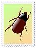 Stempel mit Käfer