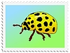 Vector clipart: stamp with ladybird