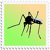 Vector clipart: stamp with mosquito