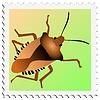 Vector clipart: stamp with beetle