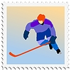 Vector clipart: stamp with hockey