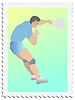 Vector clipart: stamp with volleyball