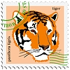 Vector clipart: stamp with tiger