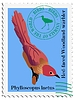 Vector clipart: stamp with bird