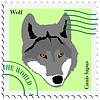 Vector clipart: stamp with wolf