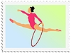 Vector clipart: stamp with gymnastics