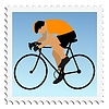 Vector clipart: stamp with cycling