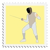Vector clipart: stamp with fencing