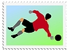 Vector clipart: stamp with football