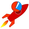 Vector clipart: fly me to Moon