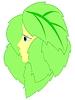Vector clipart: girl in leaves