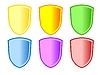 Vector clipart: Coat of arms set