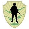 Vector clipart: Silhouette of soldier