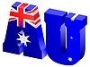 Vector clipart: Internet top-level domain of Australia