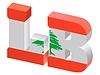 Vector clipart: Internet top-level domain of Lebanon