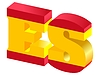 Vector clipart: Internet top-level domain of Spain