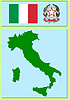 Vector clipart: national attributes of Italy