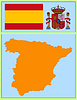 Vector clipart: national attributes of Spain