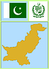 Vector clipart: national attributes of Pakistan