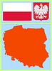 Vector clipart: national attributes of Poland