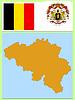 Vector clipart: national attributes of Belgium