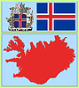 Vector clipart: national attributes of Iceland