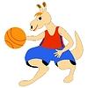 Vector clipart: kangaroo - basketball player