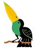 Vector clipart: friendly toucan