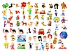 Vector clipart: Cartoon characters