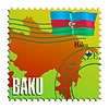 Vector clipart: Baku - capital of Azerbaijan