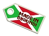 Vector clipart: label Made in Burundi