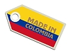 Vector clipart: label Made in Colombia