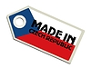 Label in der Tschechischen Republik hergestellt