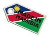 Vector clipart: label Made in Namibia