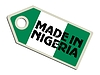 Vector clipart: label Made in Nigeria