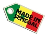Vector clipart: label Made in Senegal