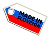 Vector clipart: label Made in Slovenia