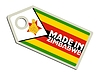 Vector clipart: label Made in Zimbabwe