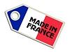 Векторный клипарт: этикетка Сделано во Франции