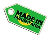Vector clipart: label Made in Mauritania