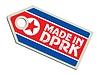 label Made in North Korea