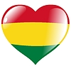 Vector clipart: heart with flag of Bolivia