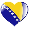 Vector clipart: heart with flag of Bosnia and Herzegovina