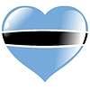 Vector clipart: heart with flag of Botswana